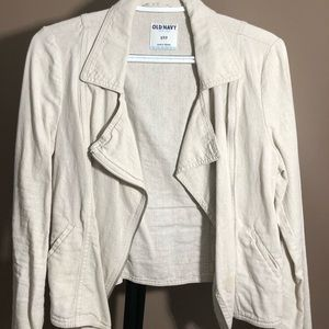 Light weight linen blend Moto jacket